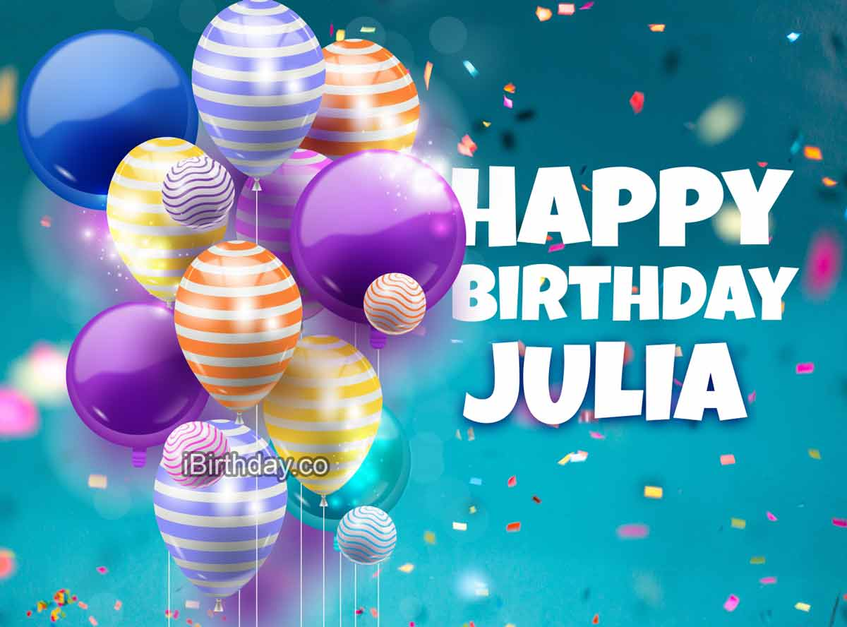 Julia Birthday Balloons