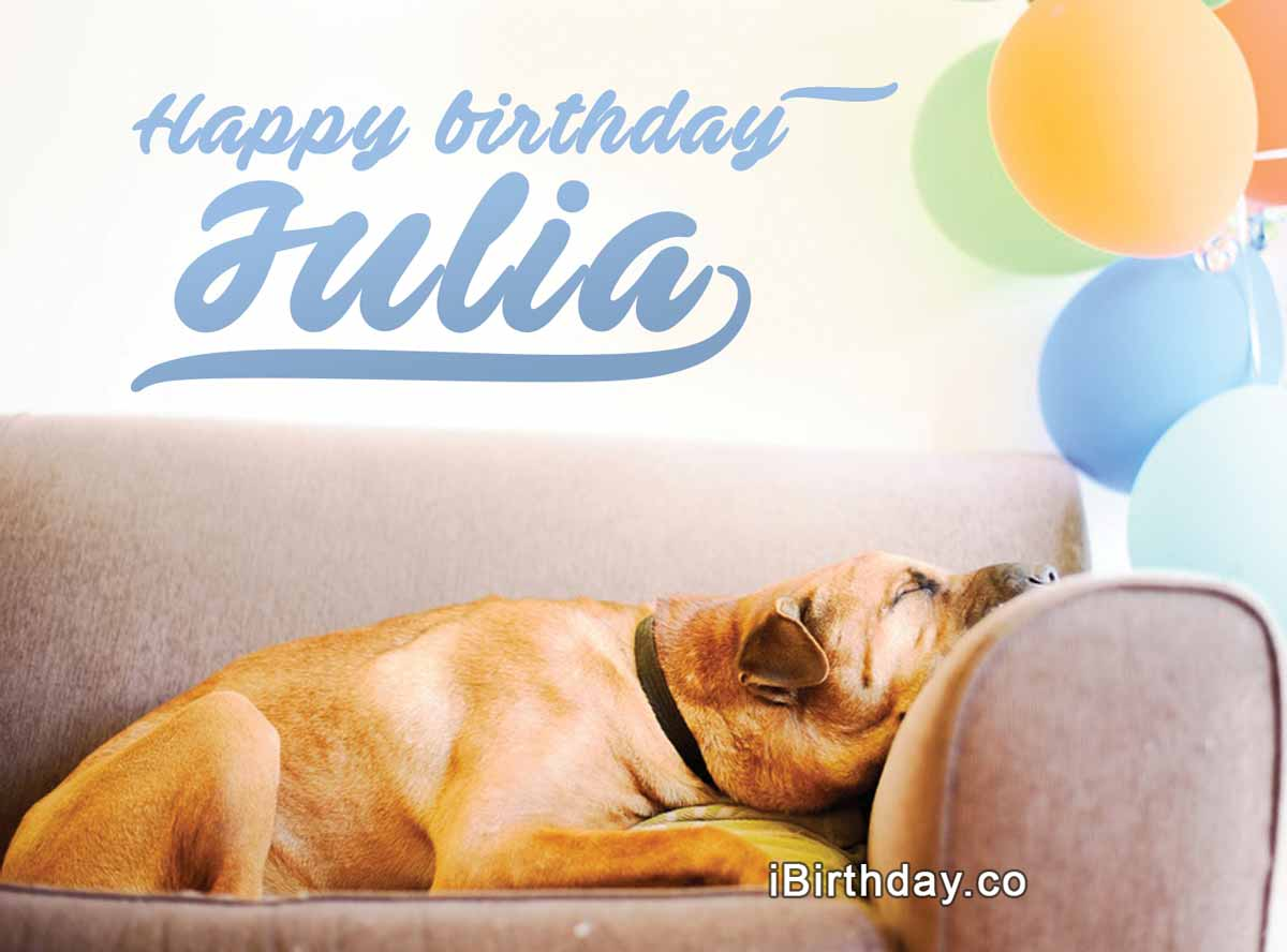 Julia Birthday Dog Meme
