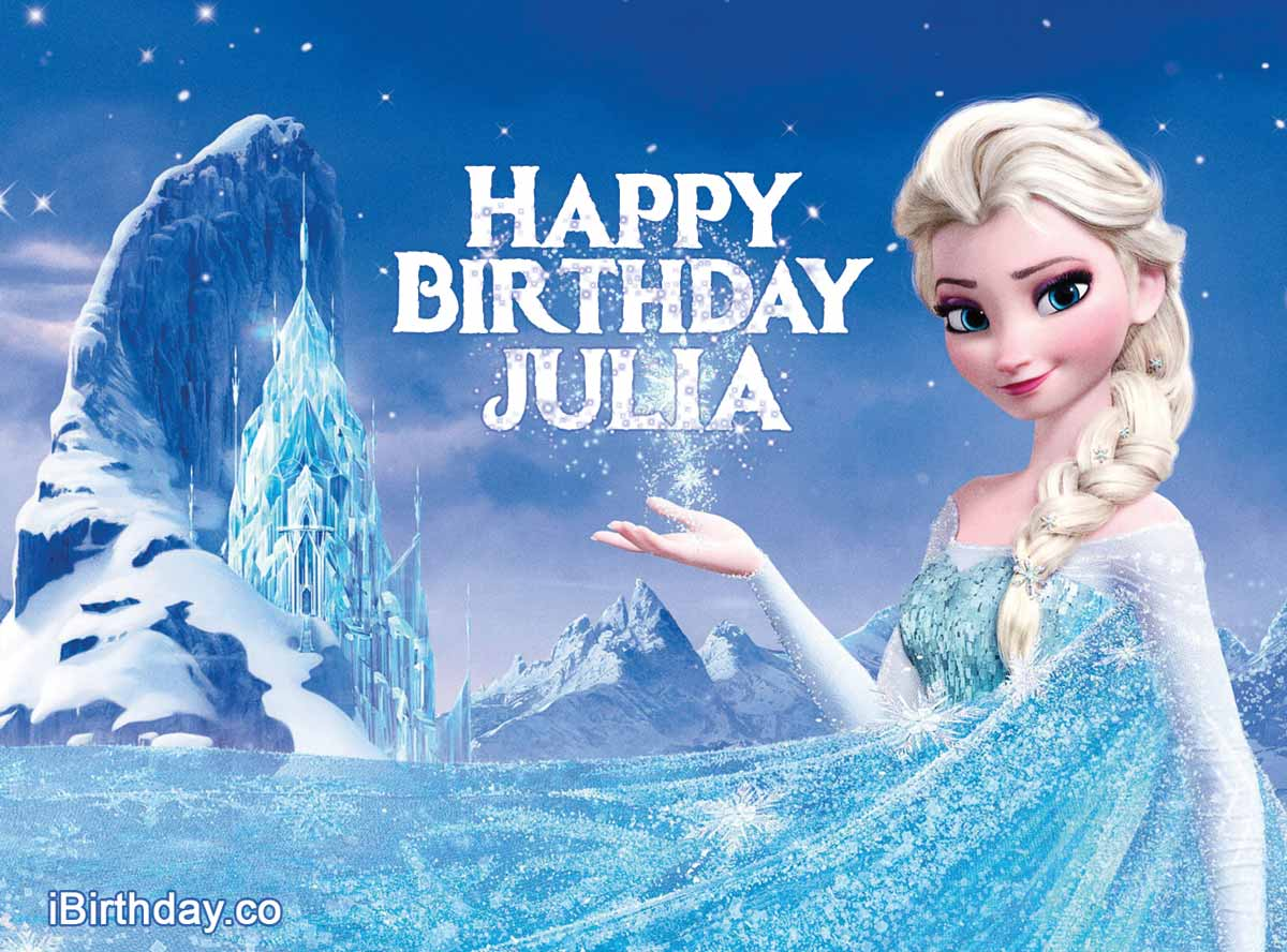 Julia Frozen Birthday Meme