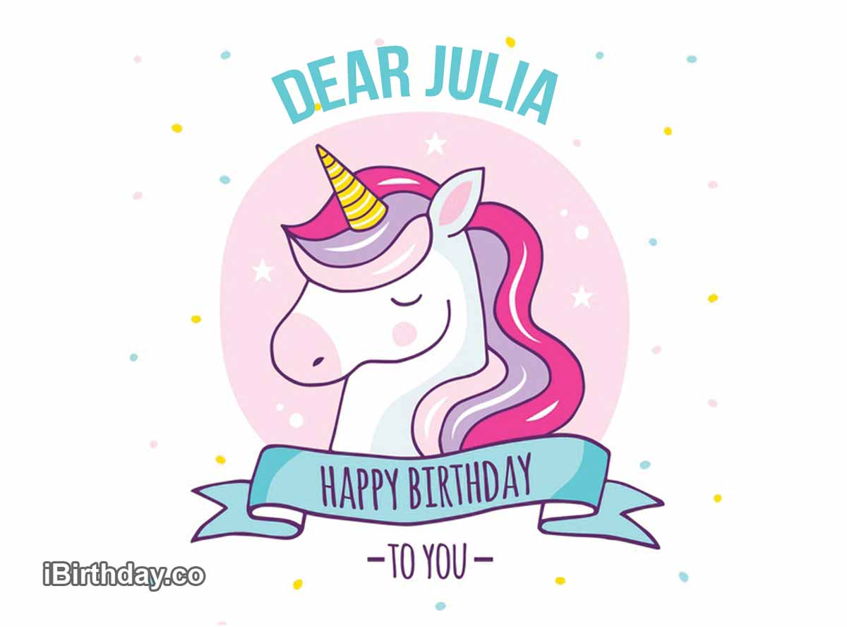 Julia Unicorn Birthday Meme