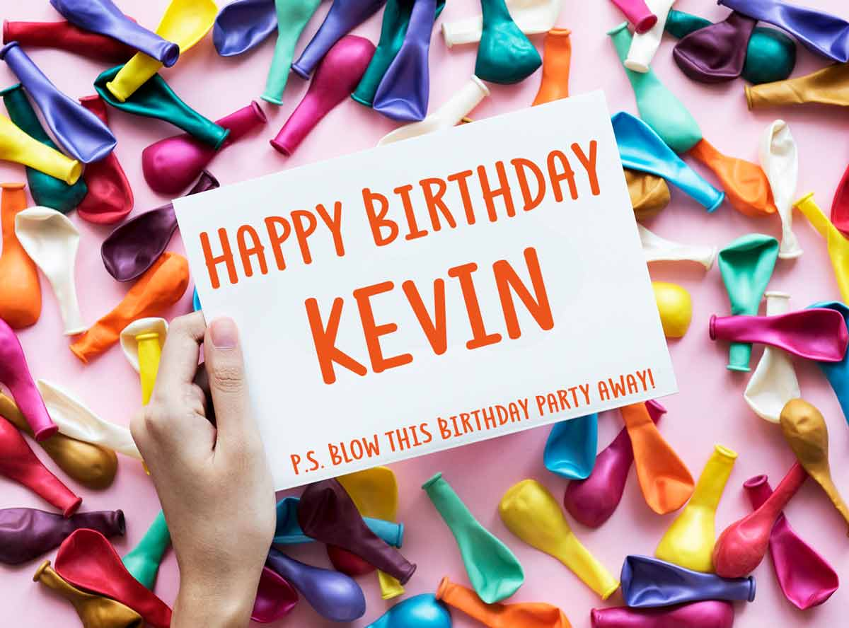 Kevin Balloons Birthday Wish