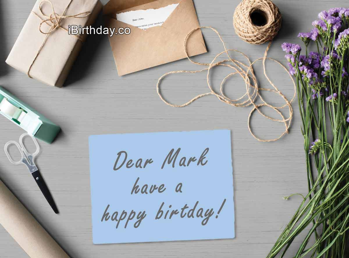Mark Birthday Greeting Card
