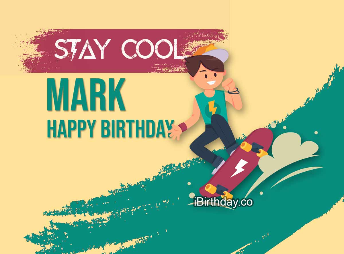 Mark Skateboard Greeting Card
