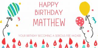 Matthew Candles Birthday Quote