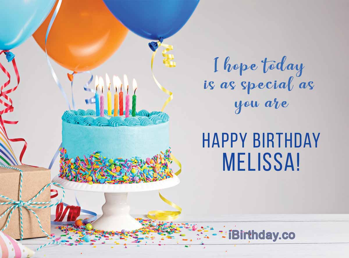 HAPPY BIRTHDAY MELISSA - MEMES, WISHES AND QUOTES