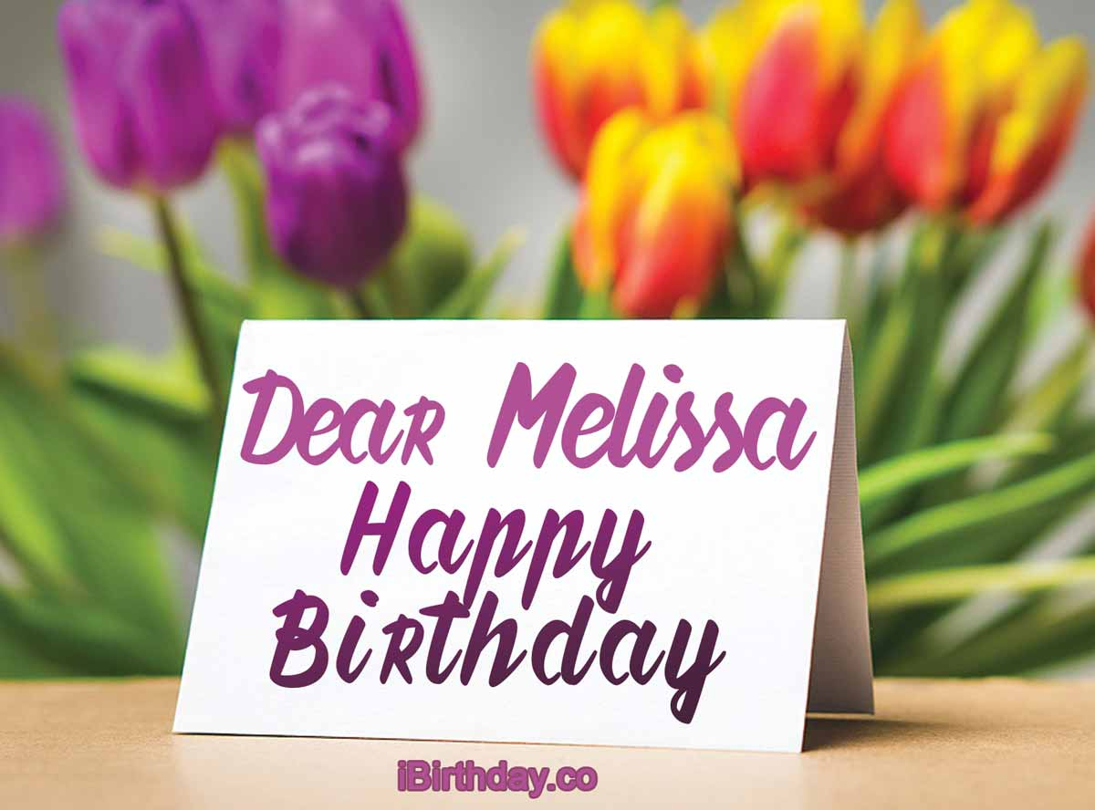 Melissa Birthday Card Meme