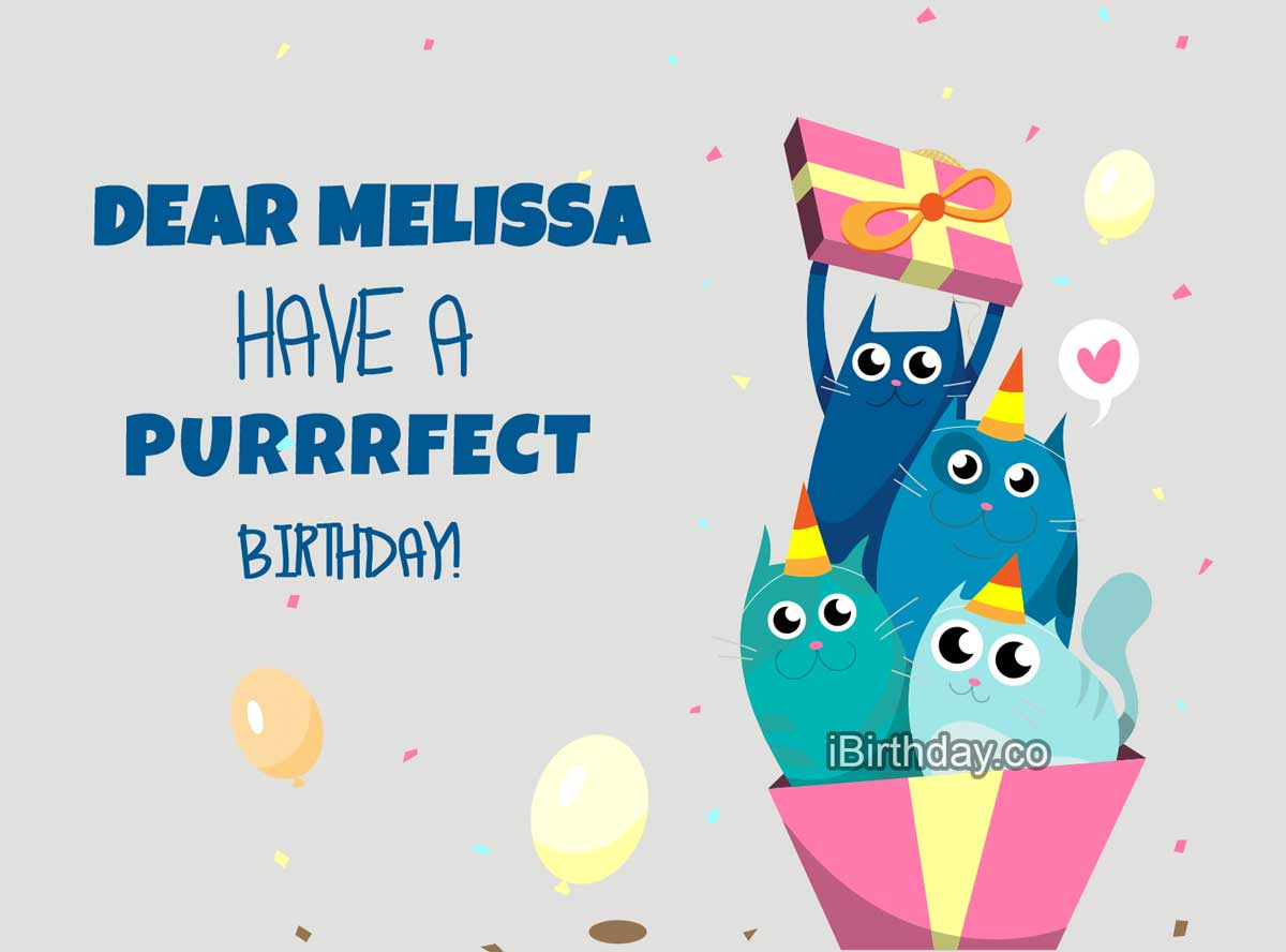 Melissa Cats Birthday Meme