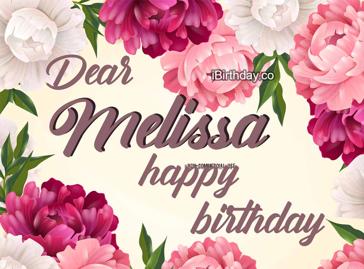 Melissa Flowers Birthday Meme