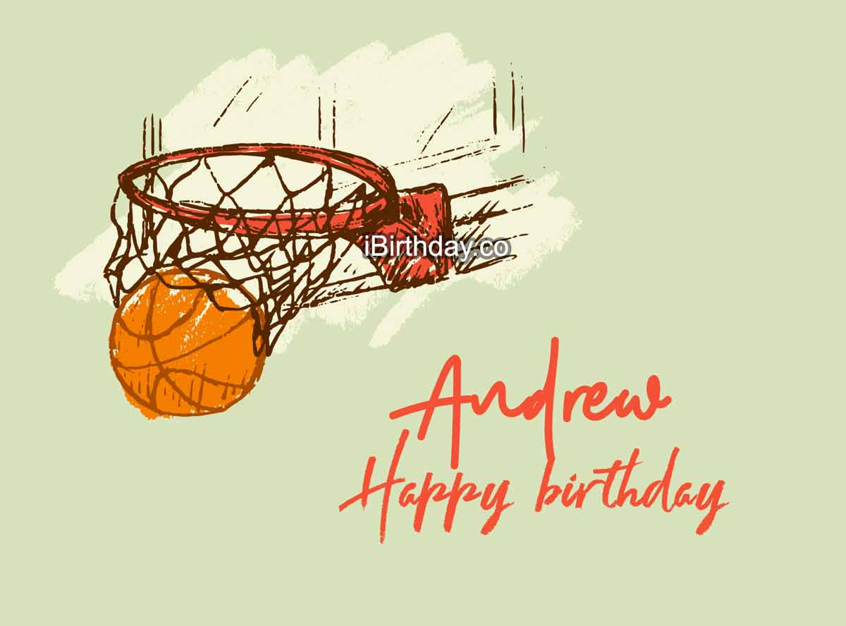 Andrew Basketball Happy Birthday Meme