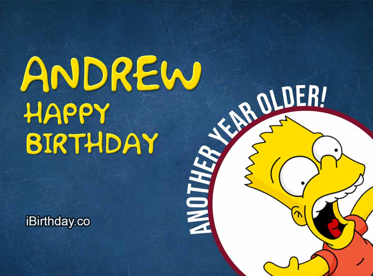Andrew Happy Birthday Bart Simpson