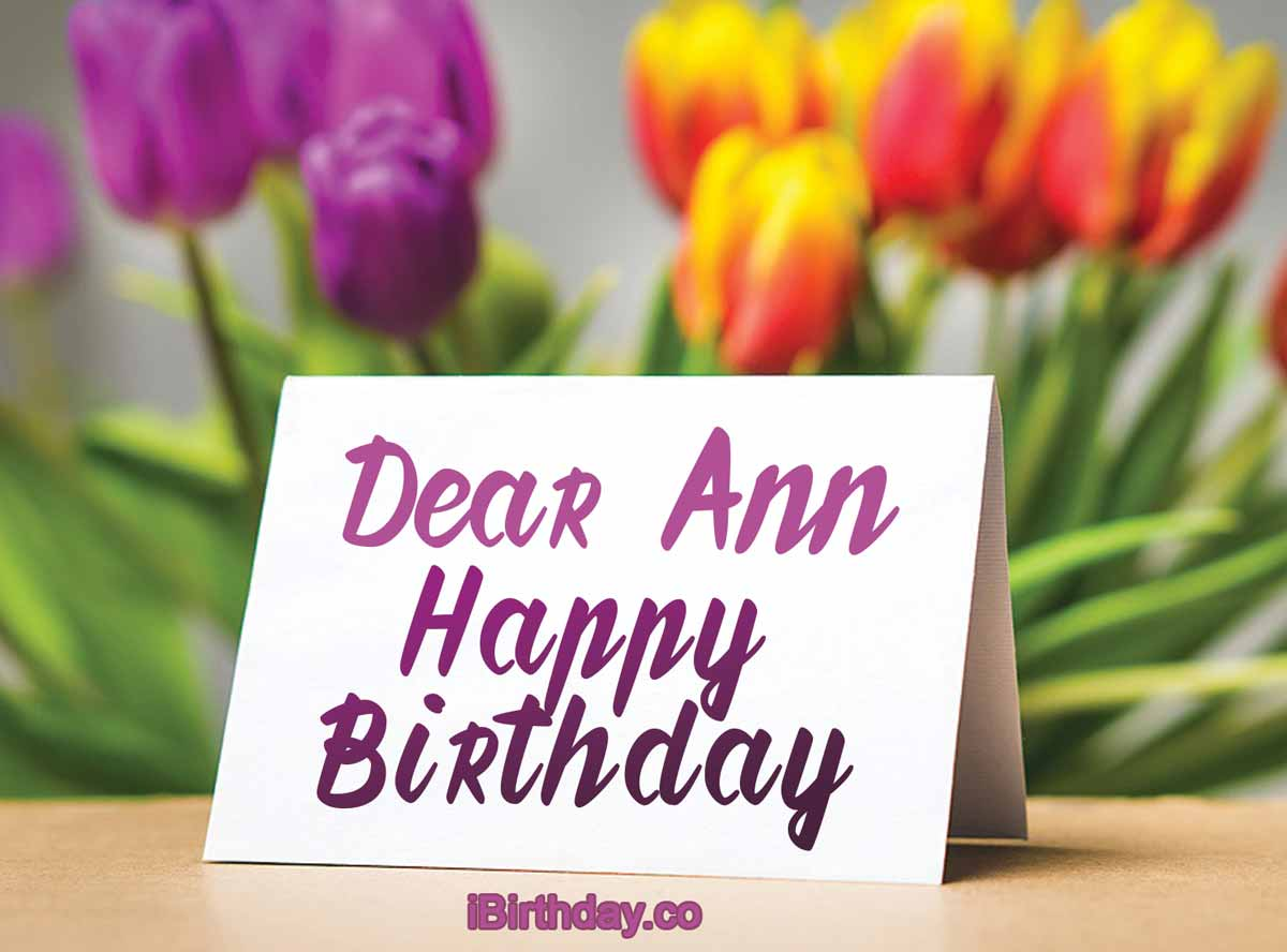 Ann Birthday Card