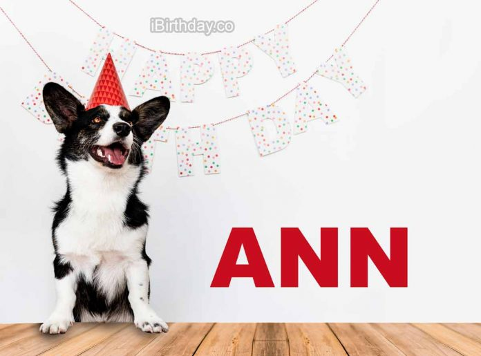 Ann Dog Happy Birthday Wish