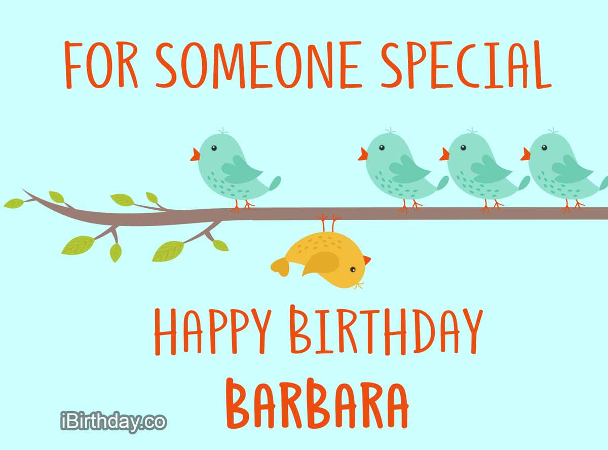 Barbara Birds Happy Birthday