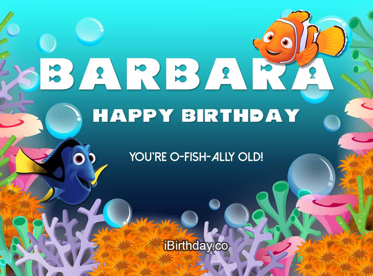 Barbara Nemo Birthday Meme