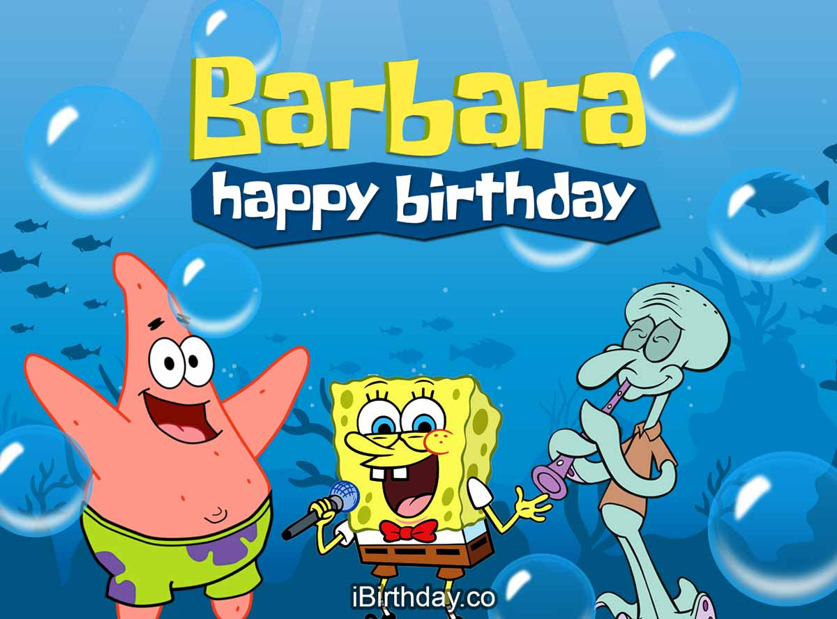 Barbara Spongebob Birthday Meme
