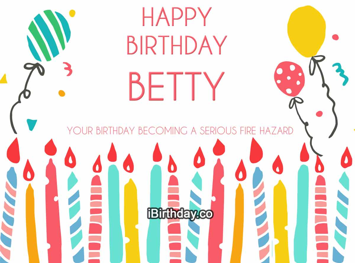 Betty Candles Birthday Wish