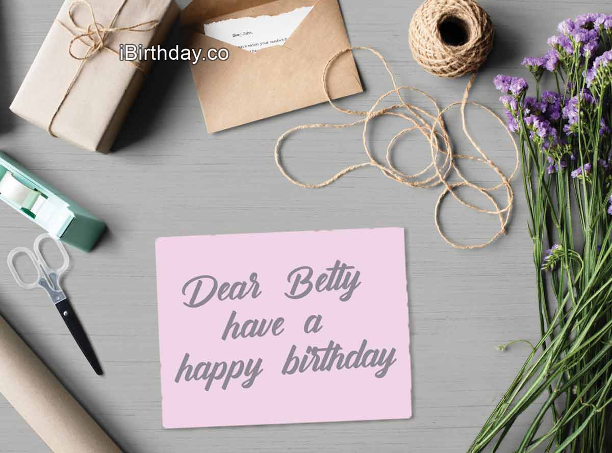 Betty Card Birthday Wish