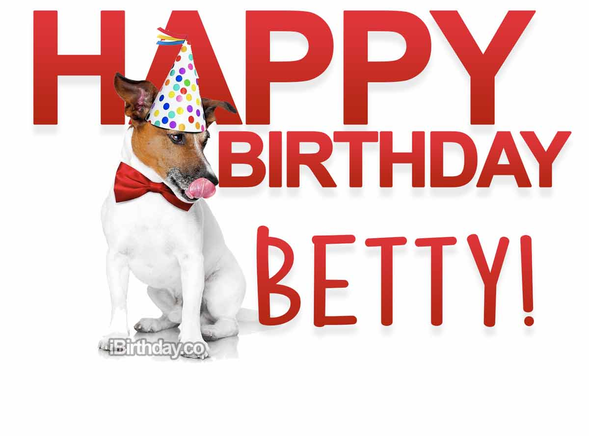 Betty Dog Birthday Wish