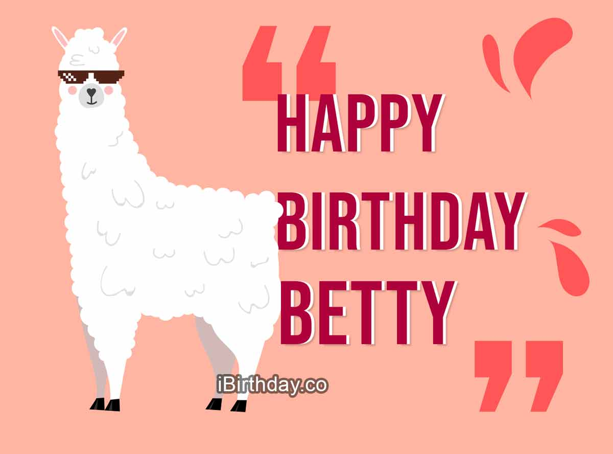 Betty Lama Birthday Meme