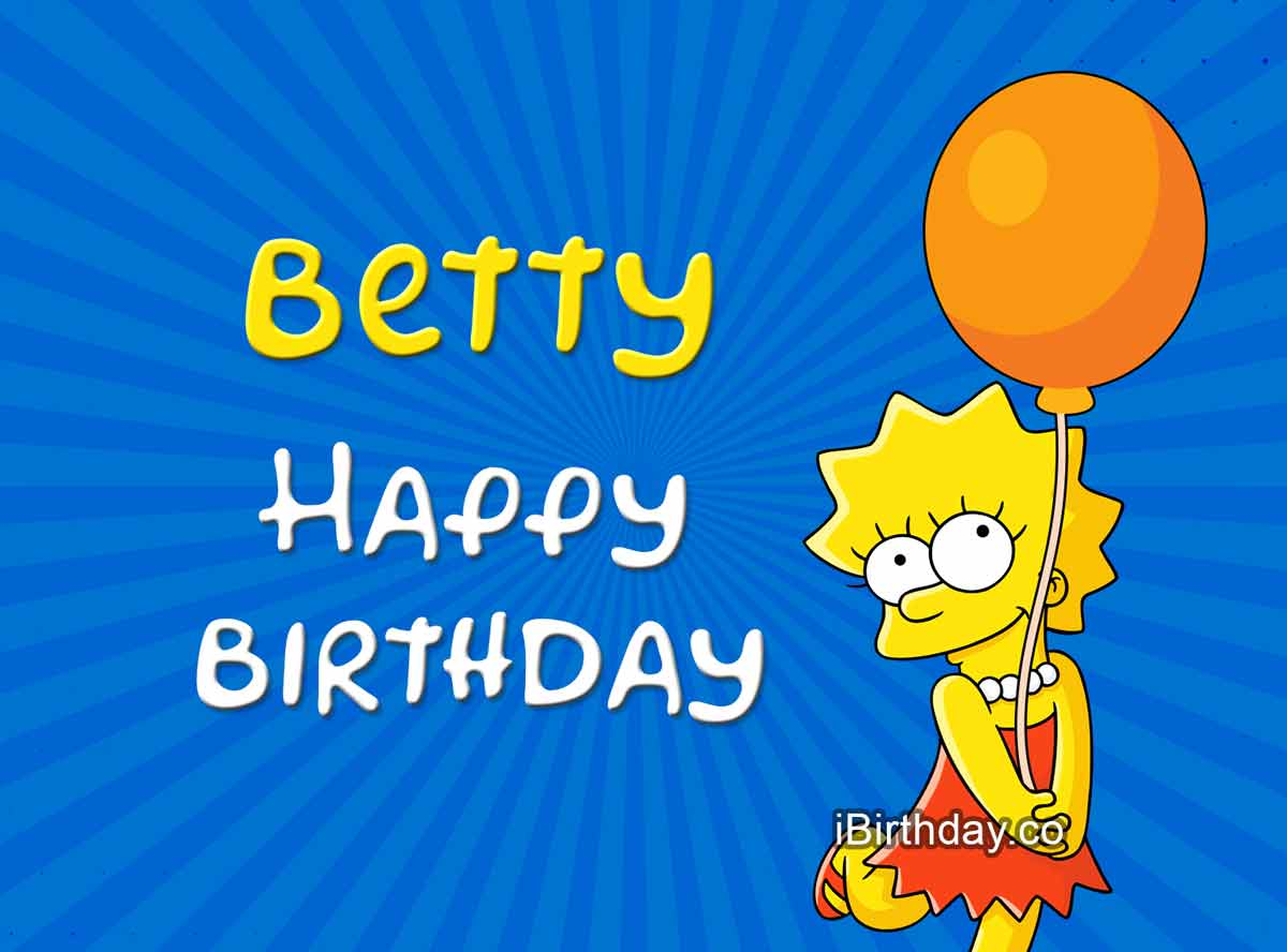Betty Lisa Simpson Birthday Meme