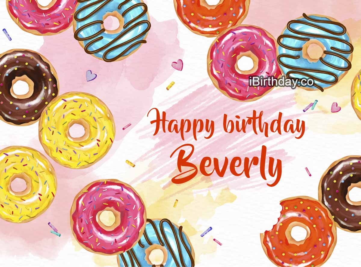 Beverly Donuts Happy Birthday