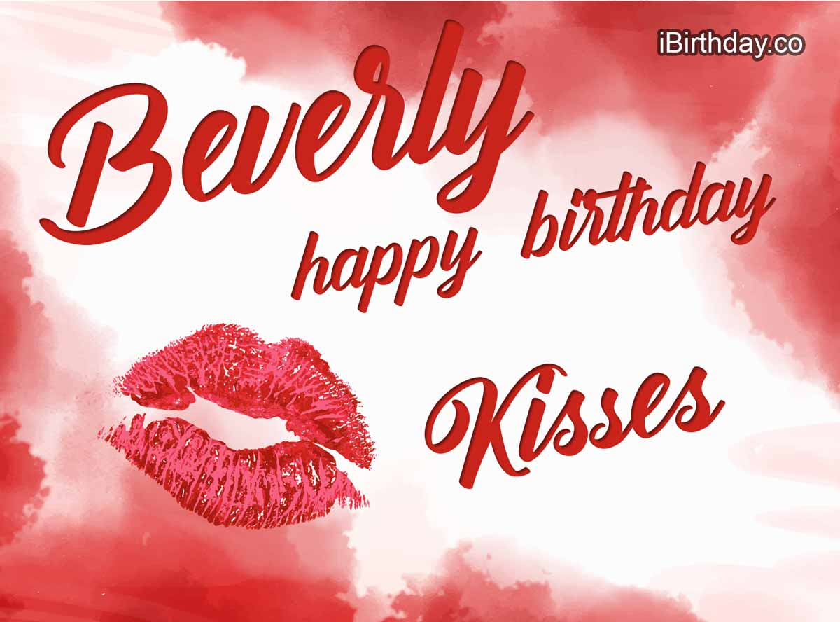 Beverly Kisses Birthday Meme