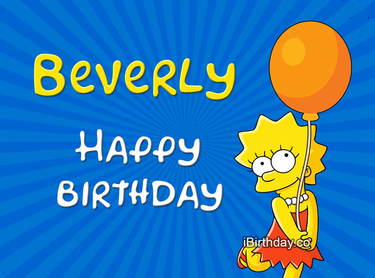 Beverly Lisa Simpson Birthday Meme