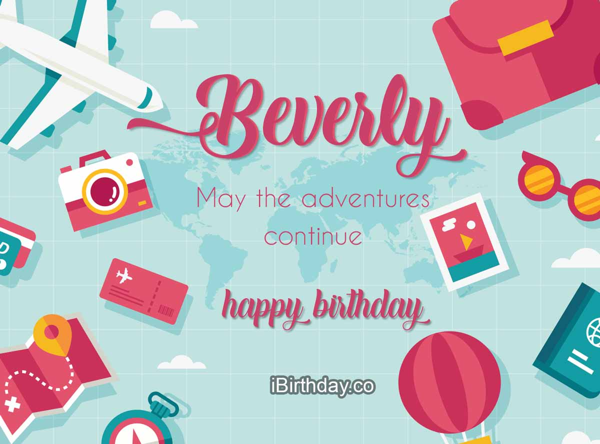 Beverly Travel Birthday Meme