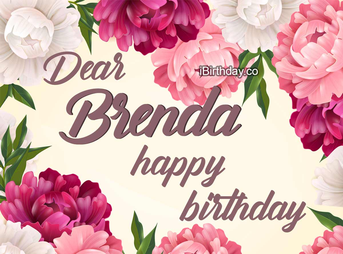 Brenda Flowers Birthday Wish