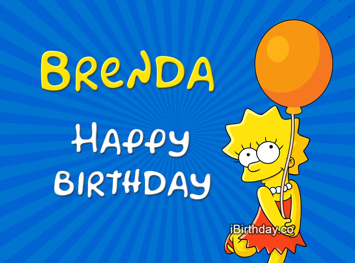 Brenda Lisa Simpson Birthday Meme
