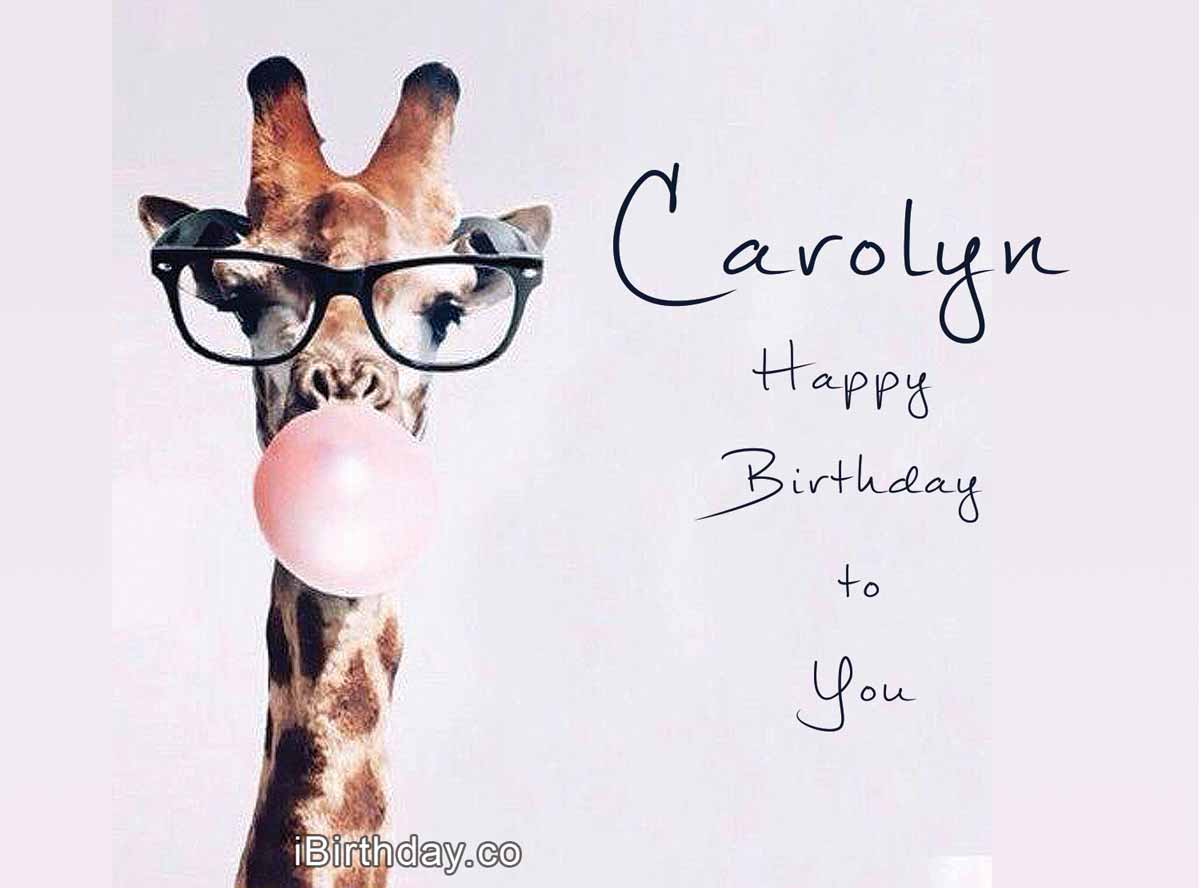 Carolyn Giraffe Birthday Meme