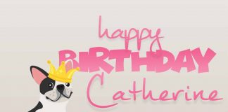 Catherine Cute Dog Happy Birthday