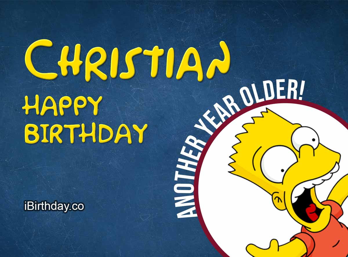 Christian Bart Simpson Birthday Meme