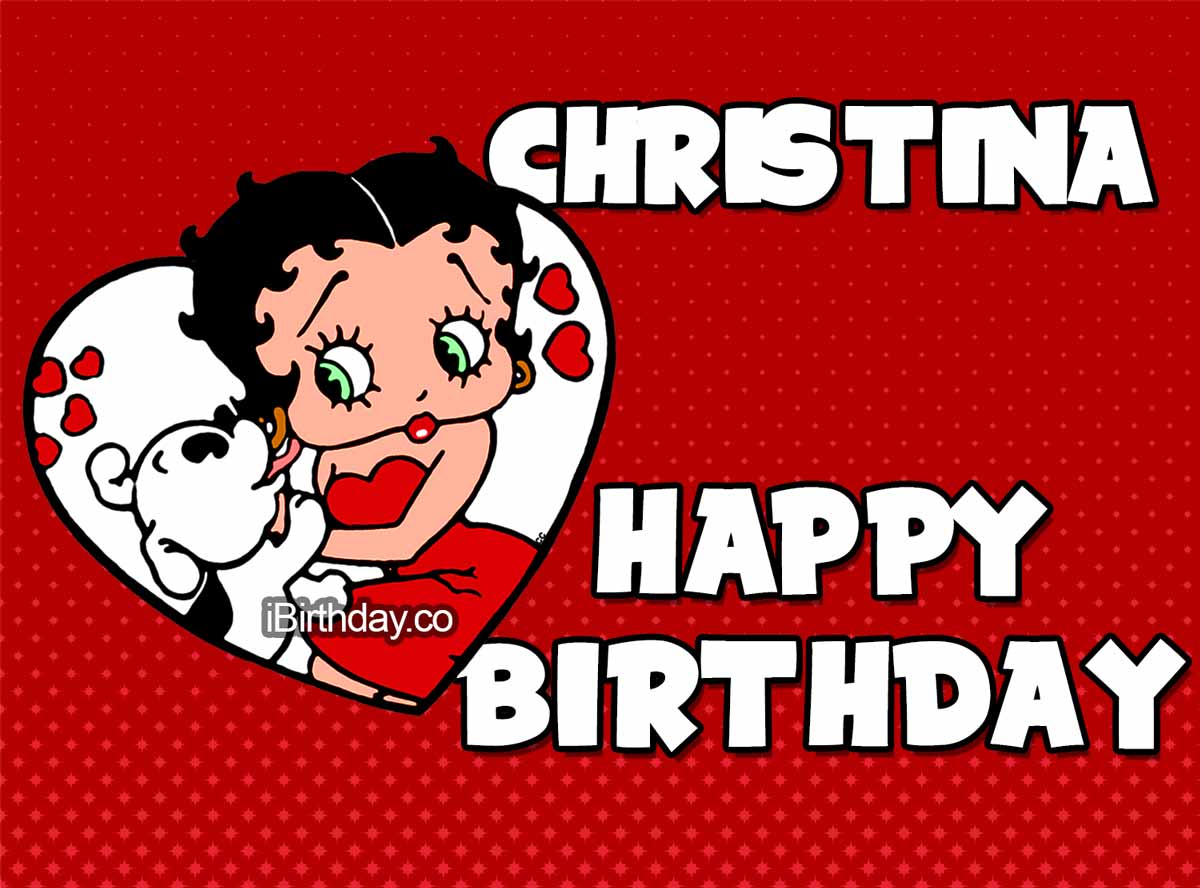 Christina Betty Boop Birthday Meme
