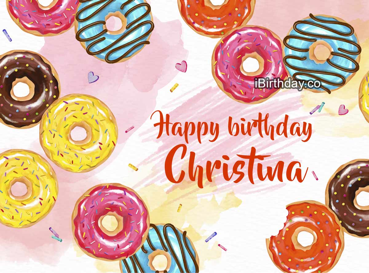 Christina Donuts Birthday Meme