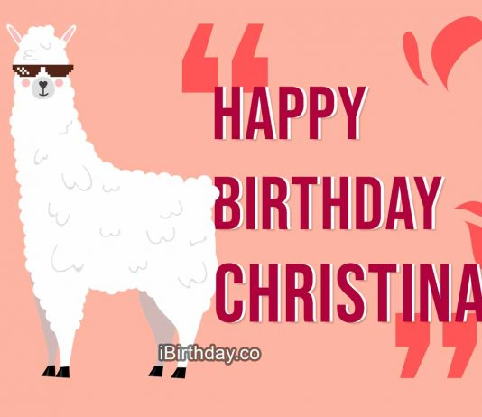 Christina Lama Happy Birthday