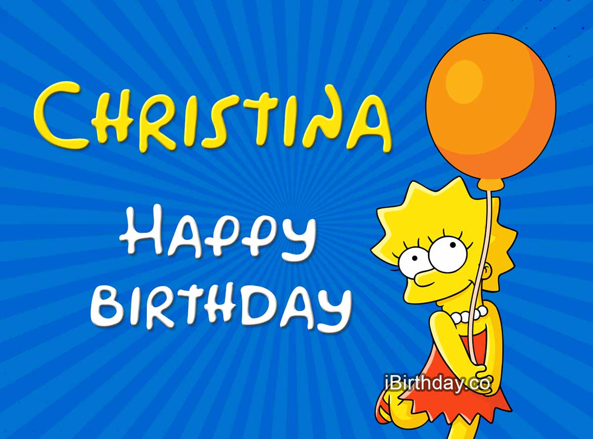 Christina Lisa Simpson Birthday Meme