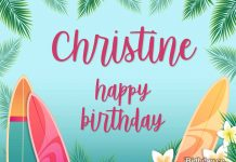 Christine Surfing Birthday Meme