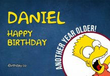 Daniel Bart Simpson Birthday Meme