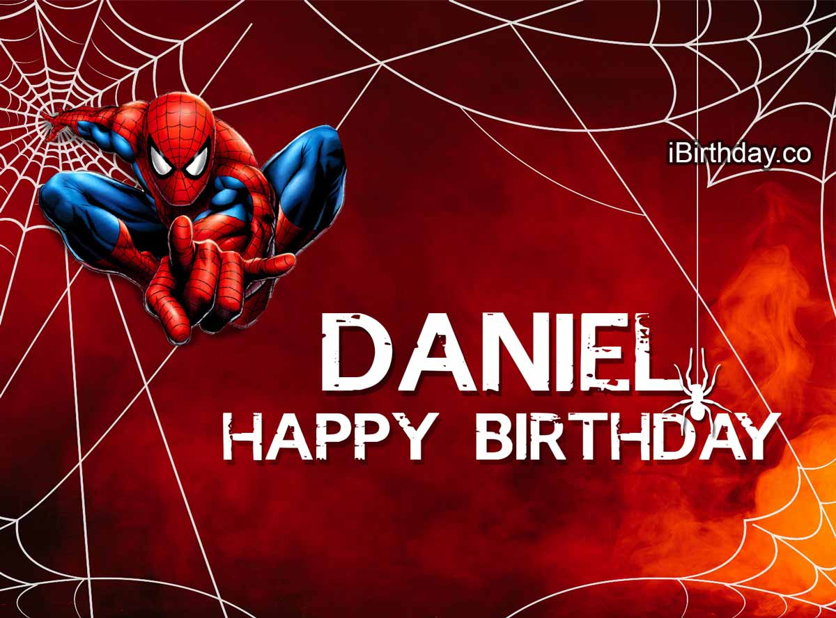 Daniel Spiderman Birthday Meme