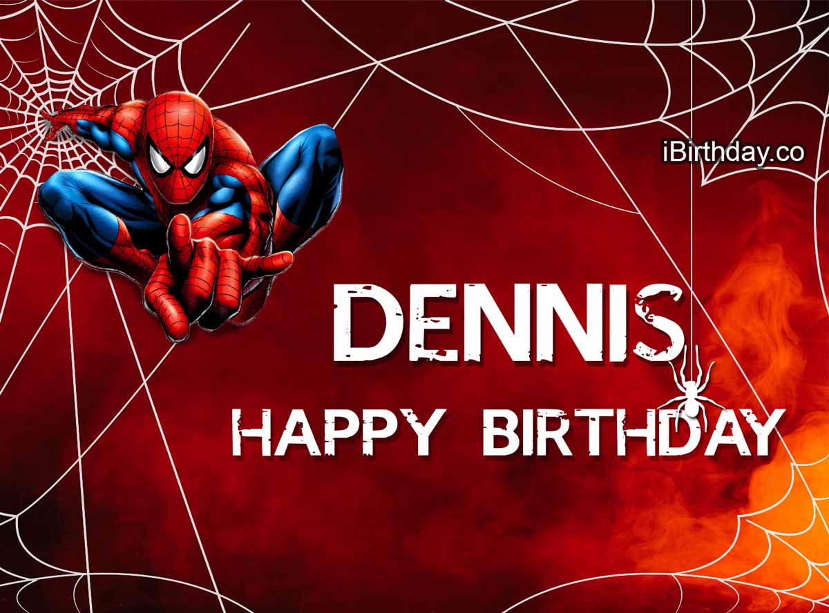 Dennis Spiderman Birthday Meme