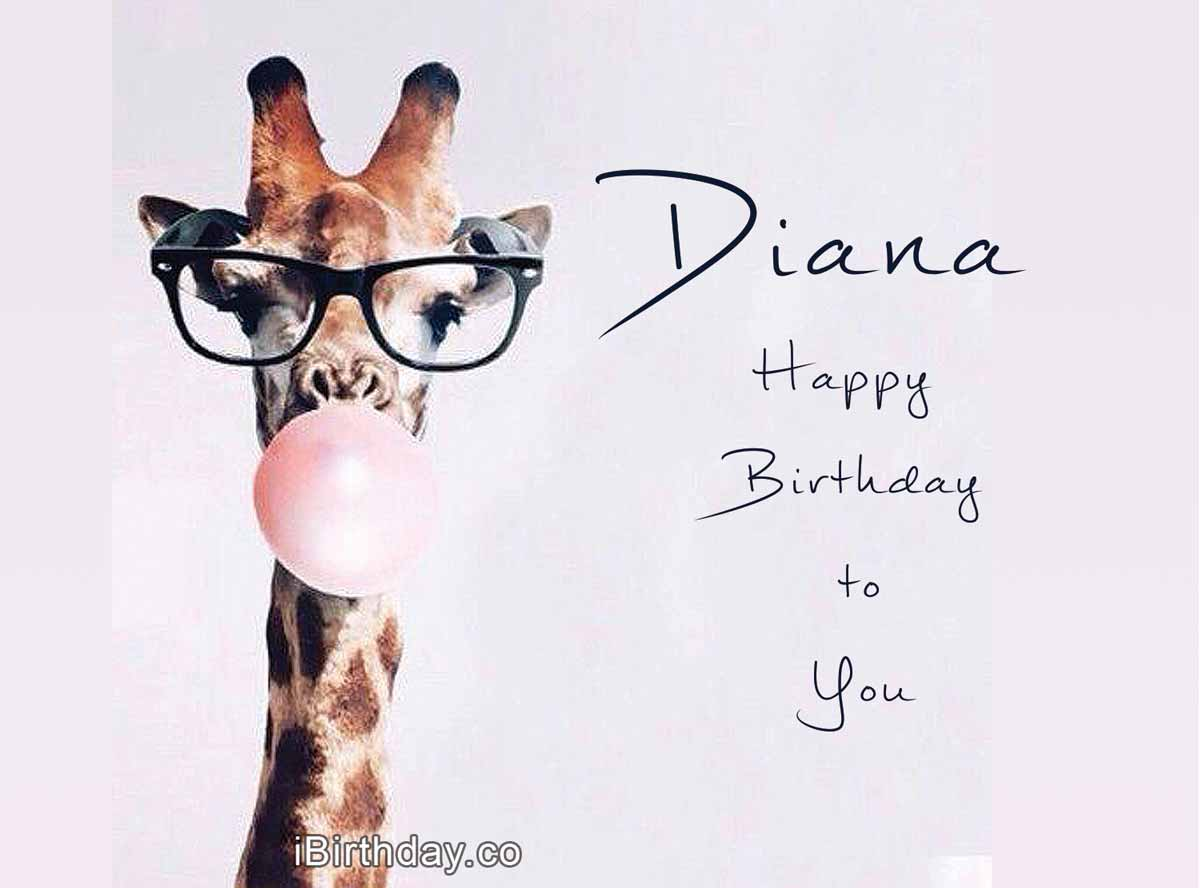 Diana Giraffe Birthday Wish