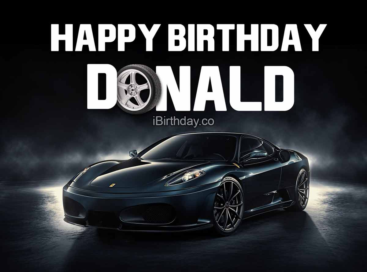 Donald Car Birthday Meme