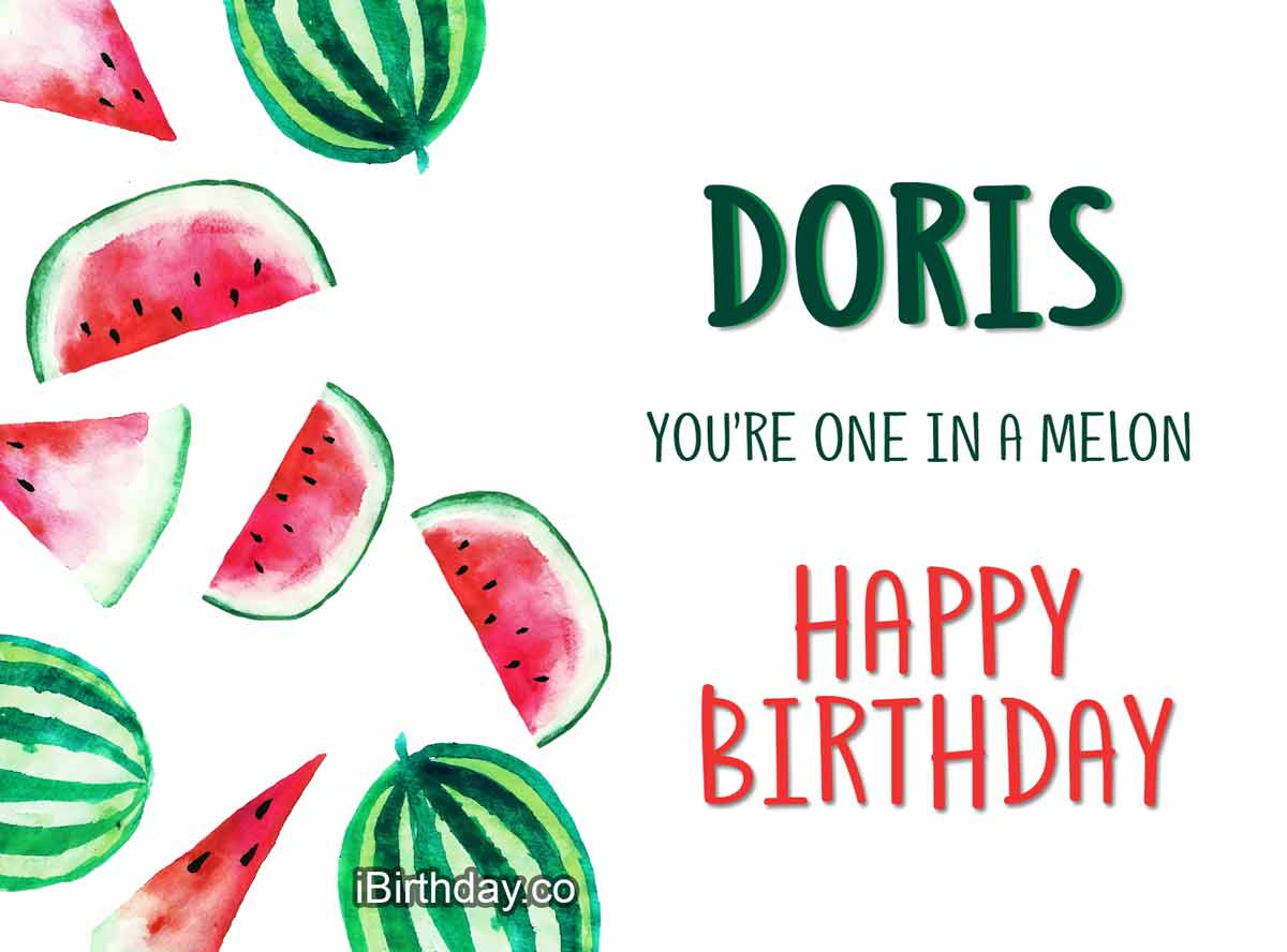 Doris Melon Birthday Meme