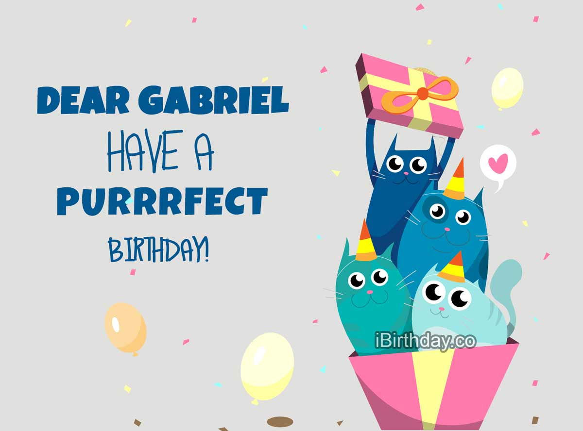 Gabriel Cats Birthday Meme