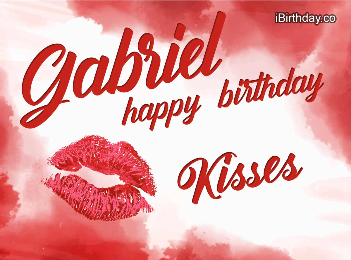 Gabriel Kisses Birthday Meme
