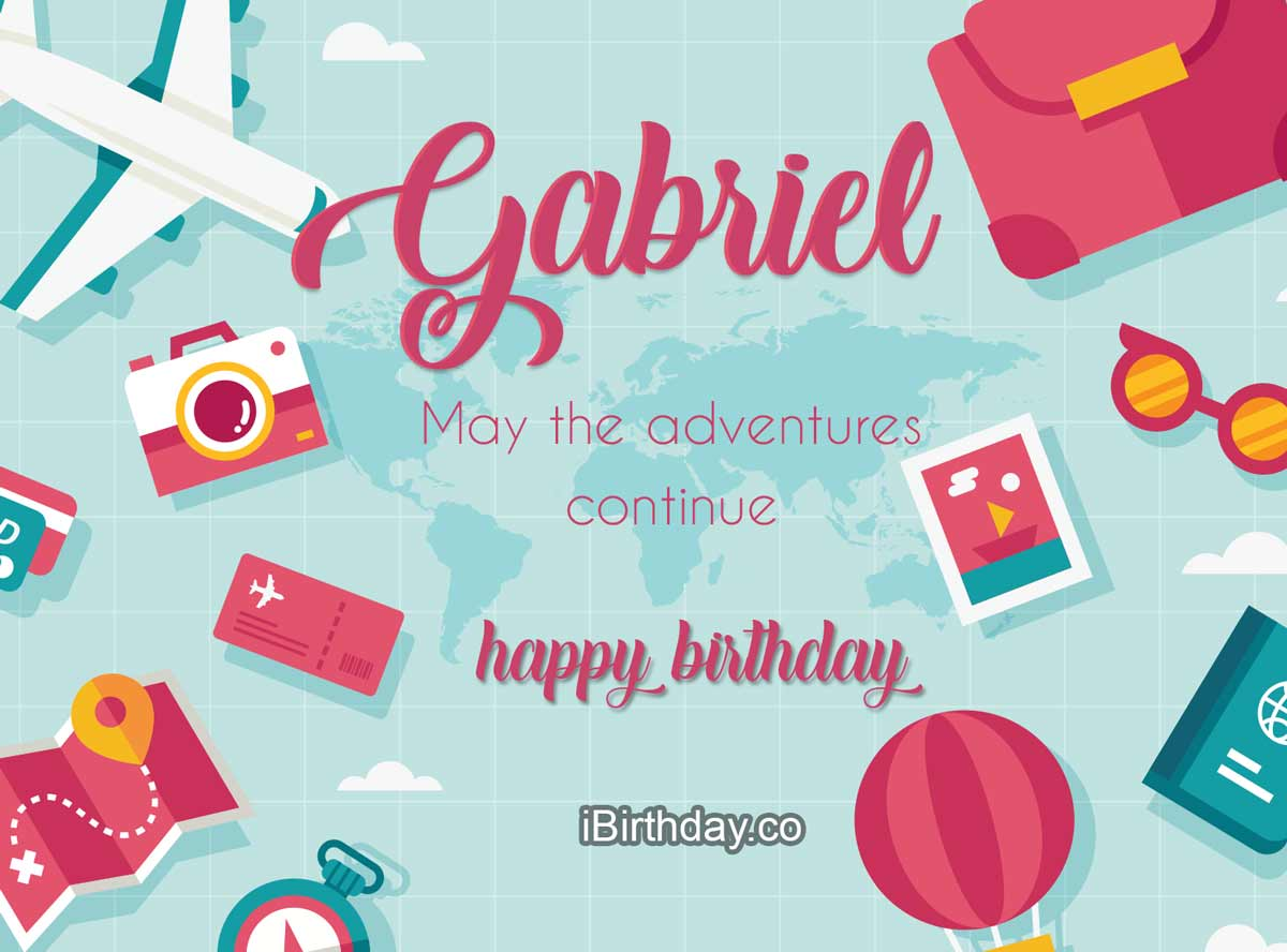Gabriel Travel Birthday Wish