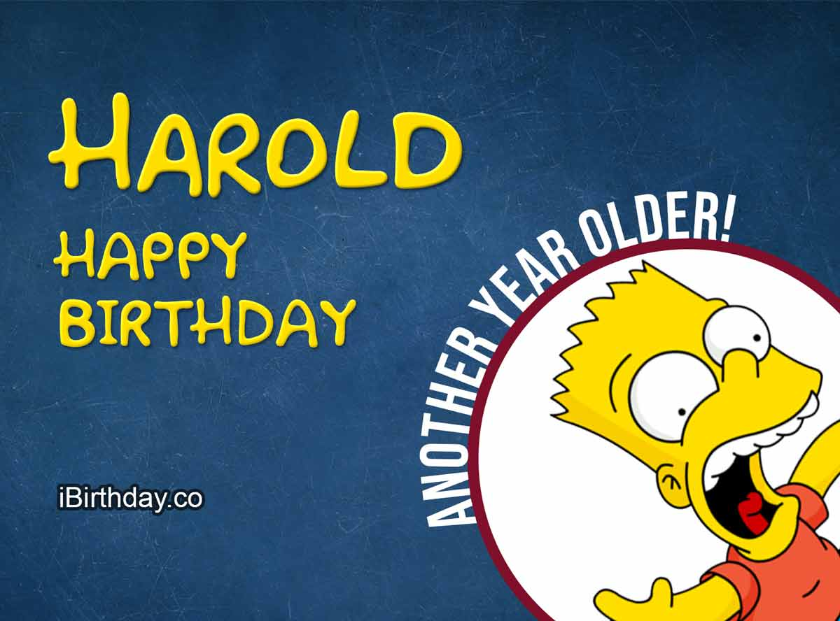Harold Bart Simpson Birthday Meme