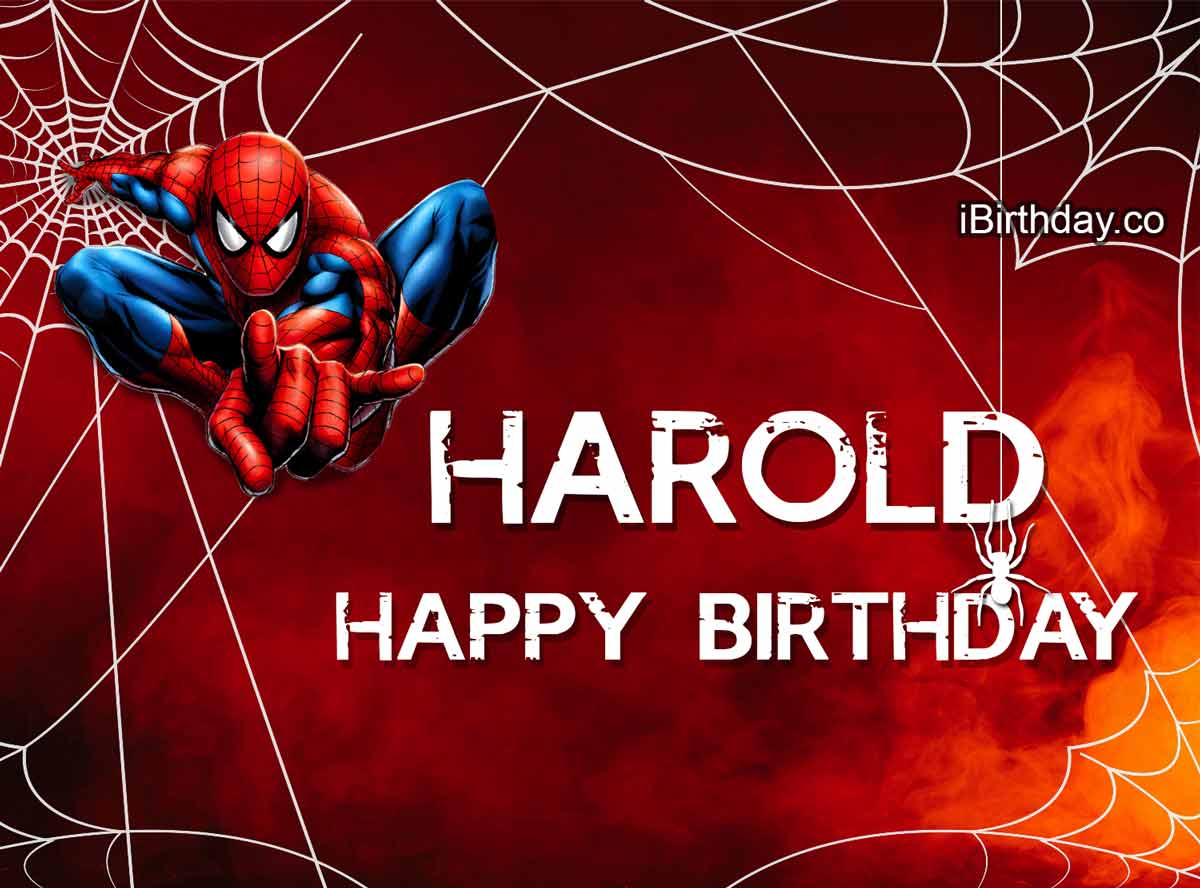 Harold Spider-man Birthday Wish