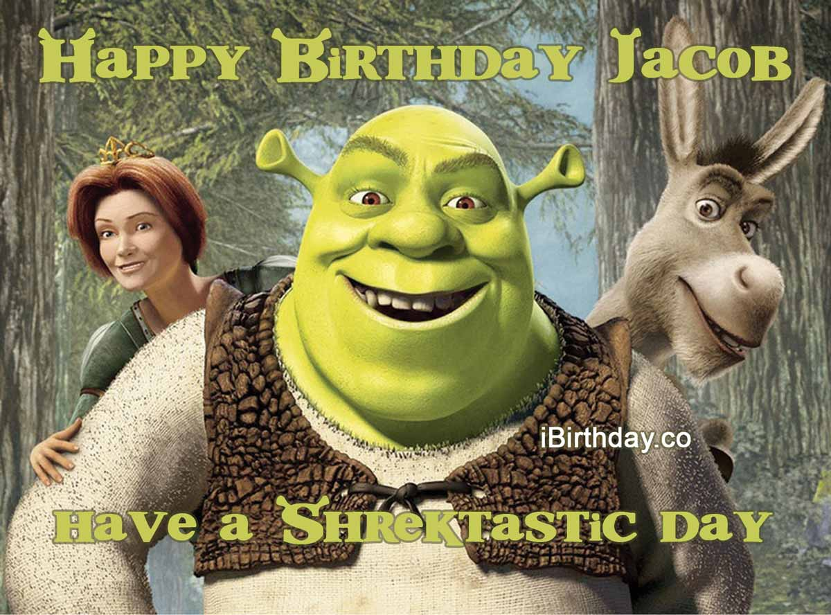 Jacob Shrek Birthday Meme